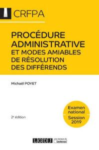 Procédure administrative et modes amiables de résolution des différends - crfpa