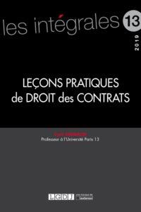 Leçons pratiques de droit des contrats Nouveauté Cyril Grimaldi
